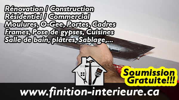 Renovation Finition Interieure Residentiel Commercial Lanaudiere